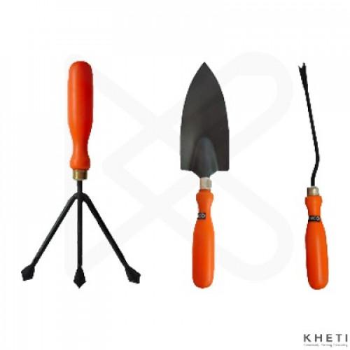 Gardening tools Set (3 in 1: Hand weeder, cultivator, trowel)