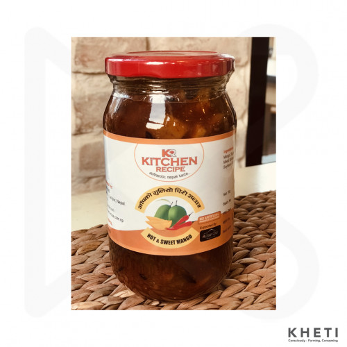 Hot and Sweet Mango Pickle